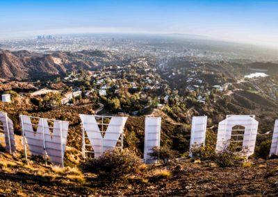 Hollywood sign in low res