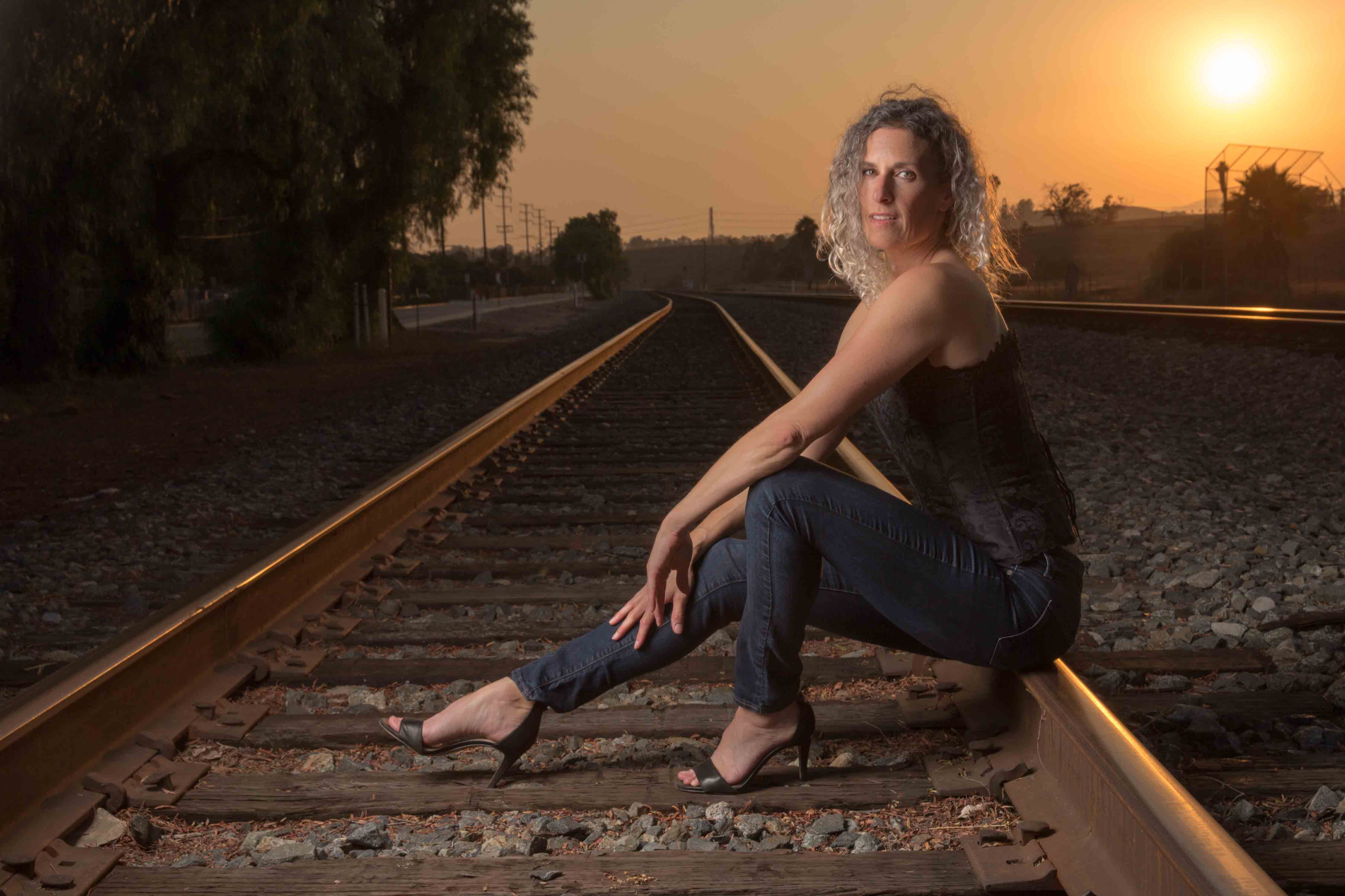 Photo Shoot on the Tracks